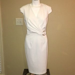 Calvin Klein White Low Cut Dress